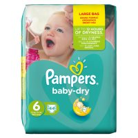 Pampers Baby Dry Size 6 Large 44 Nappies
