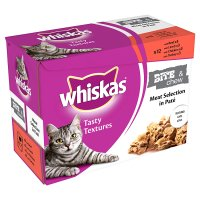 Whiskas Tasty Textures bite 'n chew meat selection pouch cat food