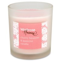 Waitrose Candle glass cherry blossom