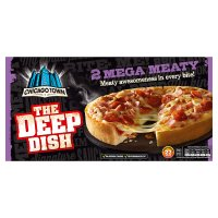 Chicago Town The Deep Dish 2 Mega Meaty Pizzas