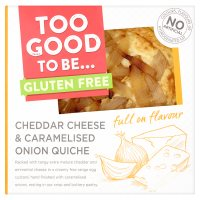 Too Good To Be Cheese & Onion Quiche