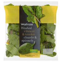 Waitrose Washed chards & spinach
