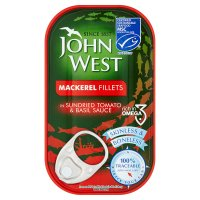 John West Mackerel Fillets in Tomato & Basil Sauce