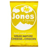 Jones hand cooked crisps cheese & onion