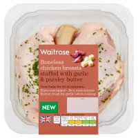 Waitrose British boneless chicken breasts stuffed with garlic