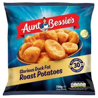 Aunt Bessie's roast potatoes basted in duck fat