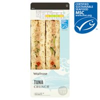Waitrose MSC tuna crunch sandwich