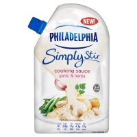 Philadelphia Simply Stir garlic & herbs cheese cooking sauce