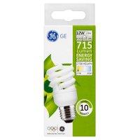 GE energy saving 715 lumen 12W E27 ES spiral