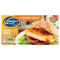 Georgia's Choice gluten free chicken grills