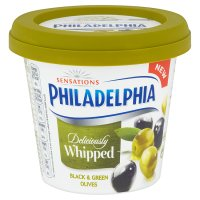 Philadelphia Whipped Black & Green Olives