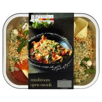 menu from Waitrose mushroom open ravioli