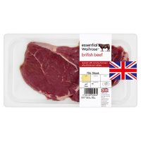essential Waitrose British beef rib steak