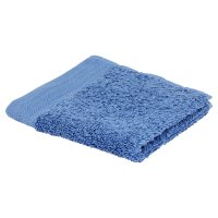 essential Waitrose mid blue face cloth