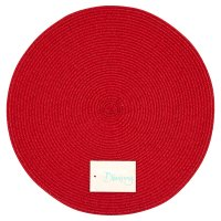 Waitrose red with red thread woven placemet