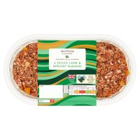 Waitrose 4 lamb burgers with apricots