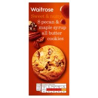 Waitrose 8 pecan & maple syrup cookies