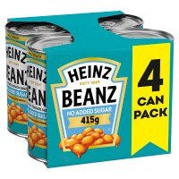 Heinz Baked Beanz reduced sugar and salt, 4 pack