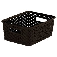 My Style plastic brown rattan basket