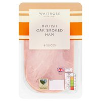 Waitrose British oak smoked ham, 6 slices