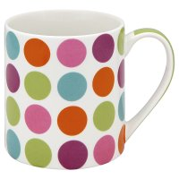 Waitrose multi spot fine china mug
