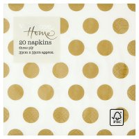 Waitrose Home Gold Spot Napkins