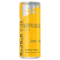 Red Bull tropical edition energy drink, tropical fruits flavour