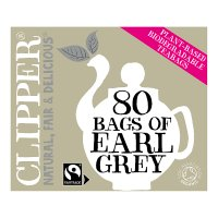 Clipper 80 bags of earl grey tea