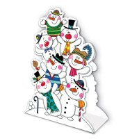 Snowmen Stand Up Character Card