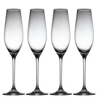 Waitrose Dining chef's table crystal champagne flutes