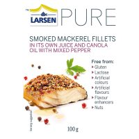 Larsen PURE smoked mackerel with mixed pepper & canola oil