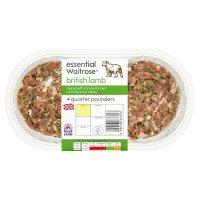 essential Waitrose British lamb 4 quarter pounders