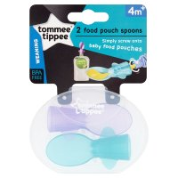 Tommee Tippee 4month+ explora pouch spoons, pack of 2
