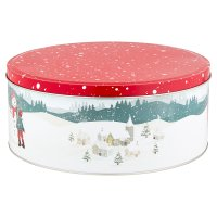 Waitrose Christmas Scene Cake Tin