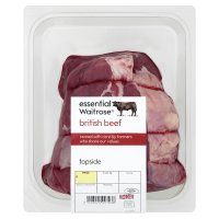 essential Waitrose British beef topside joint