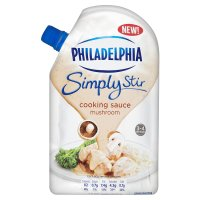 Philadelphia Simply Stir mushroom cheese cooking sauce