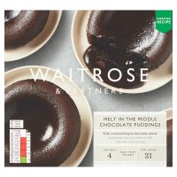 Waitrose Melt Middle 4 Chocolate Puddings