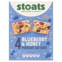 Stoats 4 blueberry & honey porridge oat bars