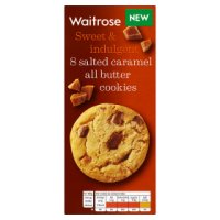 Waitrose 8 Salted Caramel All Butter Cookies