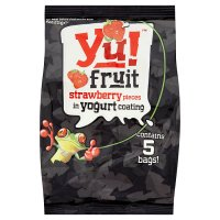 Yu! strawberry pieces in yogurt
