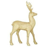 Waitrose Large Glitter Gold Stag