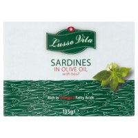 Lusso Vita Sardines Olive Oil with Basil