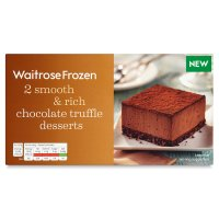 Waitrose 2 frozen chocolate truffle desserts