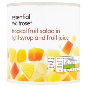 Waitrose essential Tropical Fruit Salad drained 238g