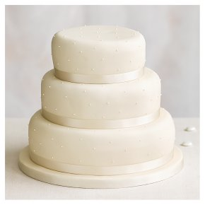 Fiona Cairns Undecorated 3 Tier Wedding Cake Fruit