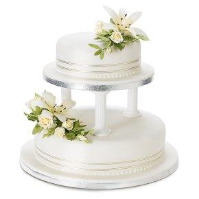 Sainsburys Wedding Cake Decorations : Ivory Lily & Rose Sugar Flower Wedding Cake - Fruit - 2 ...