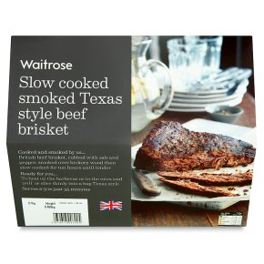 Waitrose slow cooked smoked Texas style beef brisket - Waitrose