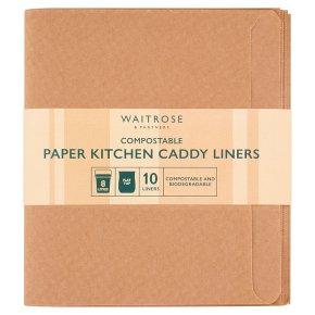 Waitrose Compostable Kitchen Caddy Paper Liners Waitrose