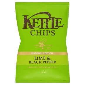 Kettle chips seasonal edition lime & black pepper - Waitrose