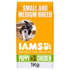 Iams puppy & junior 0-1 chicken - 1kg Brand Price Match - Checked Tesco.com 05/03/2014